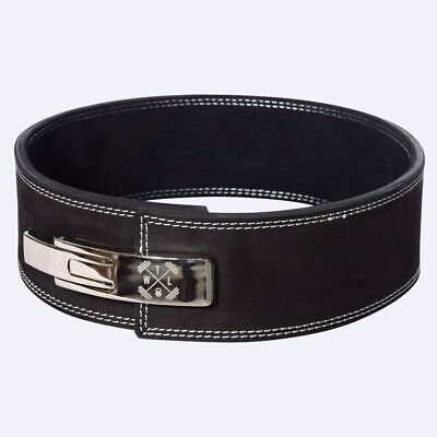 Black from The WOD Life New TWL Leather Embossed Weight Lifting Straps