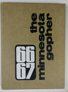 University-of-MN-Gopher-College-Yearbook-1966-67-Lou-Nanne-Glen-Sonmor-408-pages