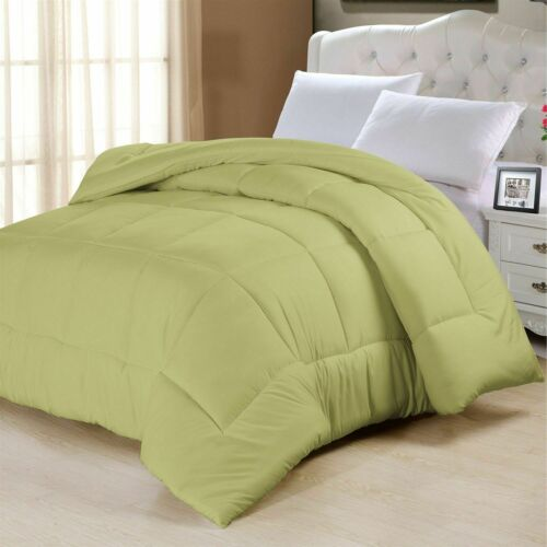 200//300 GSM 1000 TC Egyptian Cotton 1 PC Comforter Super King Size /& Solid Color