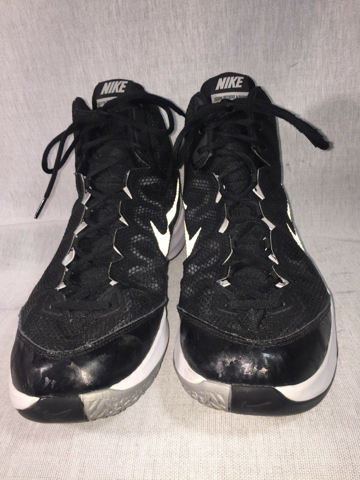 ceaa4c3435 Nike Zoom Without A Doubt Black & White Mens Basketball Shoes Size 13
