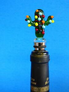 Flaschenverschlüsse & Korken Handgemacht Geblasen Glas Festlichkeit Saguaro W/lichter Kochen & Genießen
