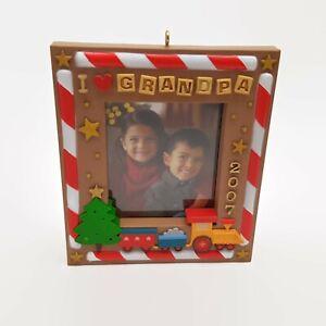 Hallmark-Keepsake-I-Love-Grandpa-2007-Picture-Frame-Ornament-New