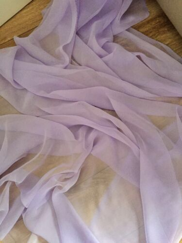 """5 MTR QUALITY LILAC COLOUR CHIFFON FABRIC...45/"""" WIDE £12.49 SPECIAL OFFER"""