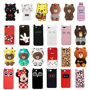 For-OPPO-Case-Cover-3D-Cute-Cartoon-Animal-Soft-Silicone-Lovely-Back-Sink