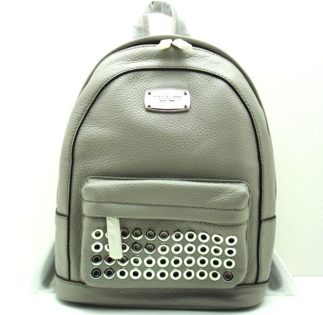 michael kors jet set pearl grey leather extra small grommet backpack rh ebay com