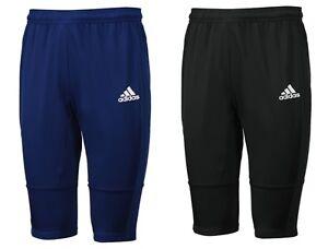 a43d0c71d5 Adidas Men Condivo 18 Training Pants 3 4 Black Blue Soccer Football ...