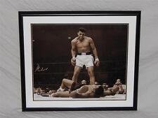 Muhammad Ali Phantom Punch Signed framed Rare 24x20 Photograph Online Authentics