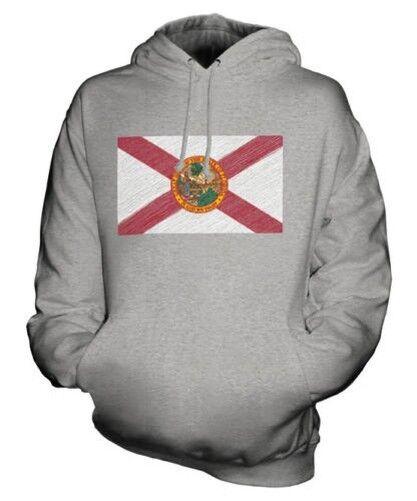 Florida State Scribble Flag Unisex Kapuzenpulli Top Geschenk Floridian Fußball