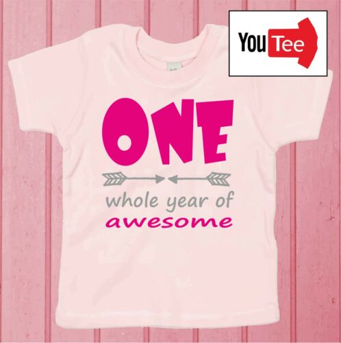 QUALITY One whole year of Awesome Baby Tshirt t-shirt first birthday girl tee