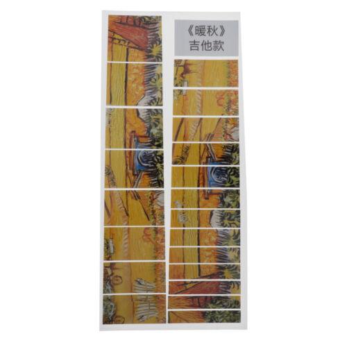 Gitarre Bund Marker Aufkleber Inlay Abziehbilder Gitarre Inlay Sticker