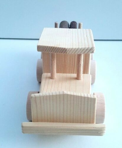 Wooden Toy Logging Truck with 4 Twig loggs handmade natural toy