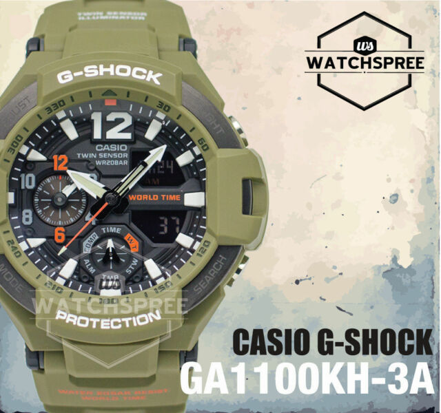 Casio G-Shock Master of G-Gravitymaster Series Watch GA1100KH-3A AU FAST & FREE