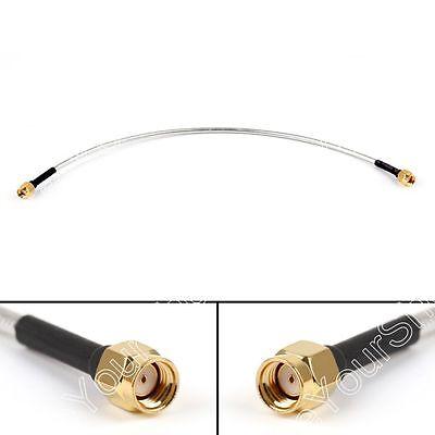 10Stk RP-SMA Male to RP-SMA Male Extension RF Koax Semi-Rigid Kabel RG402 15cm