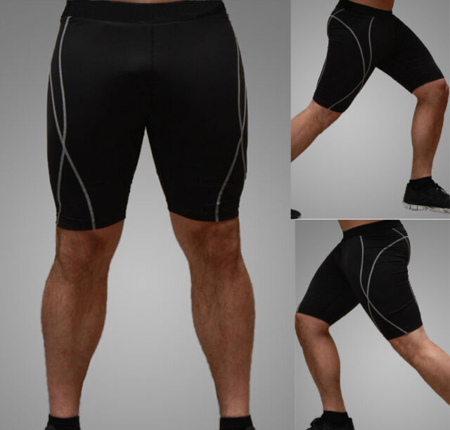 Mens Boys Compression Armour Shorts Base Layer Thermal Sport Skins Under Gear