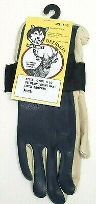James Churchill Glove Bull Riding Deer Skin Little Britches RH Size 6 1//2 Blue