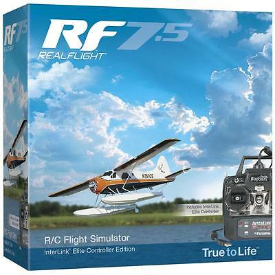 Great Planes RC RF RealFlight 7.5 w MD 2 Radio Flight Simulator AirPlane / Helic