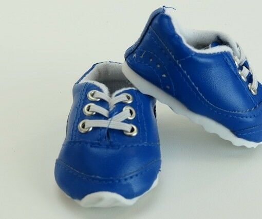 Blue No Tie Sporty Sneakers Shoes fits American Girl 18 inch Doll Clothes