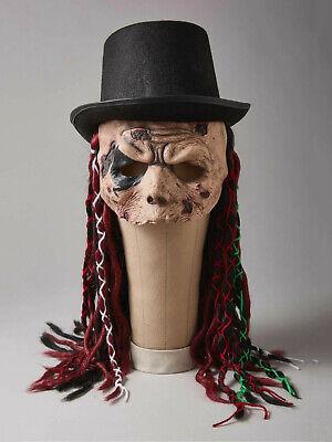 Black Voodoo Witchdoctor Skull Dreadlocks Costume Top Hat Witch Doctor