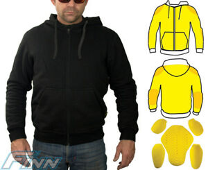 Details about Mens Motorcycle Hoodie Protective Lined with Knitted Dupont™  Kevlar® CE Armour