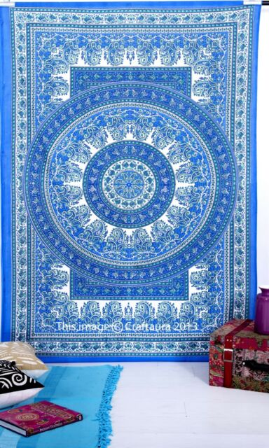 Paisley Indian Tapestry Wall Hanging Hippie Mandala Throw Bedspread Ethnic Decor