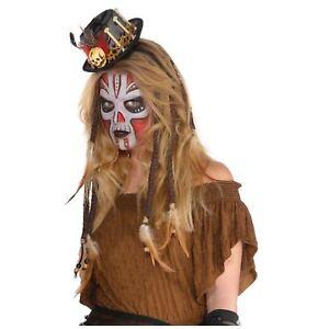 Ladies Voodoo Queen Witch Doctor Corset Waist Clincher Fancy Dress Accessory