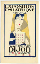 Dijon France 1928 Philatelic Exposition Gerard Artist Poster Advertise Postcard