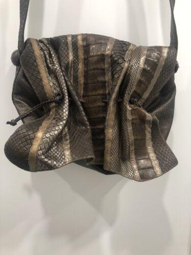 Carlos Falchi Leather Crossbody Bag