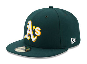 New Era 59Fifty MLB Cap Oakland Athletics 2017 On Field Fitted Road Hat - Green