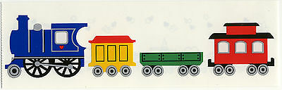 Mrs. Grossman's Stickers - Trains - Large Engine, Cars, Caboose - 4 Strips