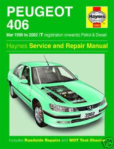 haynes manual peugeot 406 petrol diesel 99 02 new 3982 ebay rh ebay co uk workshop manual peugeot 406 hdi workshop manual peugeot 206 sw free download