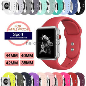 Silicon-Sport-Bracelet-Strap-pour-Apple-Watch-Series5-4-3-2-Band-44-42mm-40mm