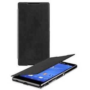 Case-Cover-original-SONY-gel-shell-SMA5157B-Flip-Case-for-xperia-Z3-Black