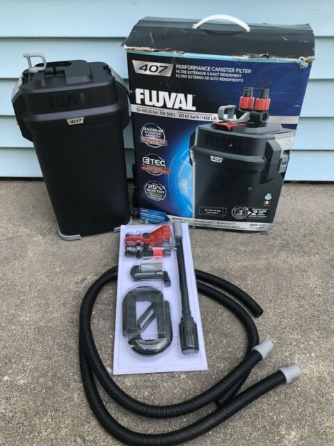 Fluval 407 Performance Aquarium Canister Filter - Up To 100 Gallon