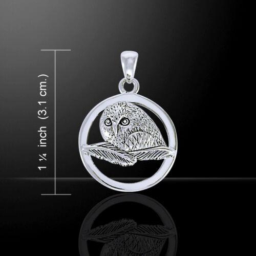 Owl Ted Andrews .925 Pendentif en argent sterling par Peter Stone bijoux