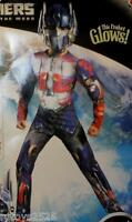 Transformers Optimus Prime Costume Size 10-12 Large Glows Dark Of The Moon L