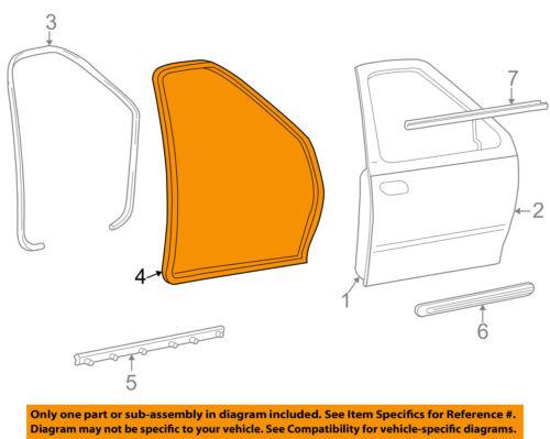 FORD OEM 99-03 F-150 Front Door-Weatherstrip Seal Left XL3Z1820531AA