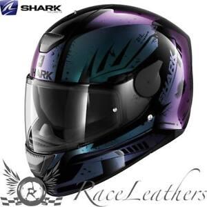 Shark D Skwal Dharkov Black Violet Motorcycle Motorbike Bike Helmet