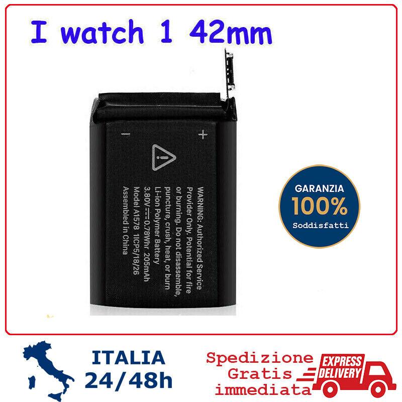 iwatch: BATTERIA per APPLE Watch 1 generazione 42mm Battery batteria  a1579 iwatch