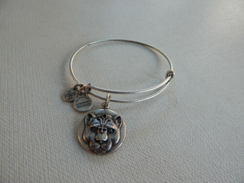 Alex and Ani Silver Tiger Jaguar Wildheart Bracele