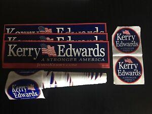 JOHN KERRY FOR PRESIDENT 2004 Vintage BUMPER STICKER