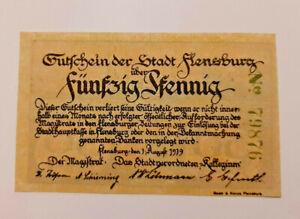 FLENSBURG-NOTGELD-50-PFENNIG-1919-NOTGELDSCHEIN-10990