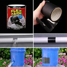 """Flex Tape Black 4"""" x 5' Strong Rubberized Waterproof Seal Tape AS SEN ON TV  HOT"""