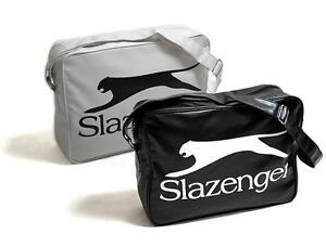Slazenger-Borsa-Tracolla-Uomo-donna-Retro-Men-Woman-Shoulder-Bag-scuola-sport