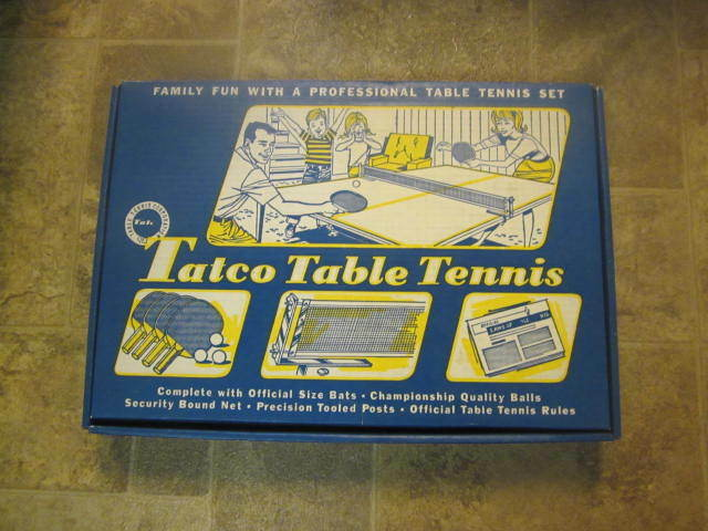 Vintage Tatco table tennis set
