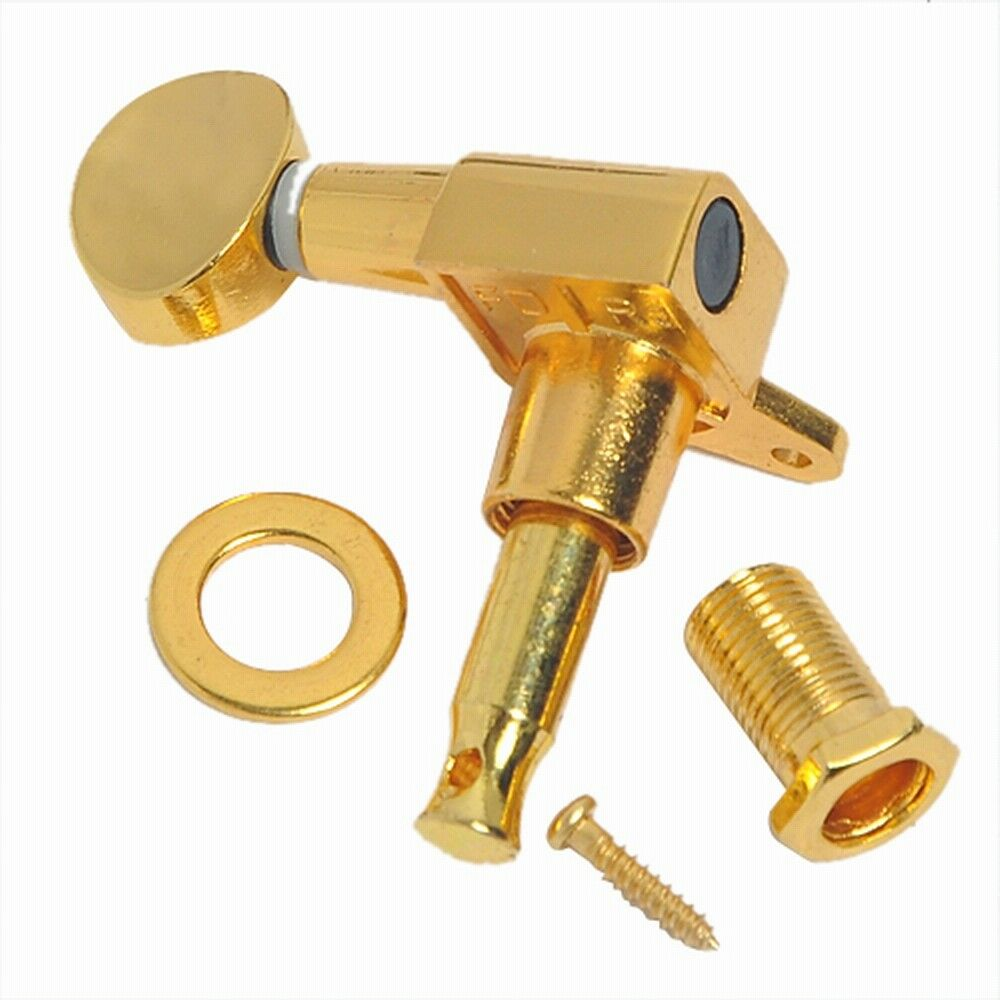 gold 3l3r guitar string tuning pegs machine heads for fender guitar replacement 634458550215 ebay. Black Bedroom Furniture Sets. Home Design Ideas