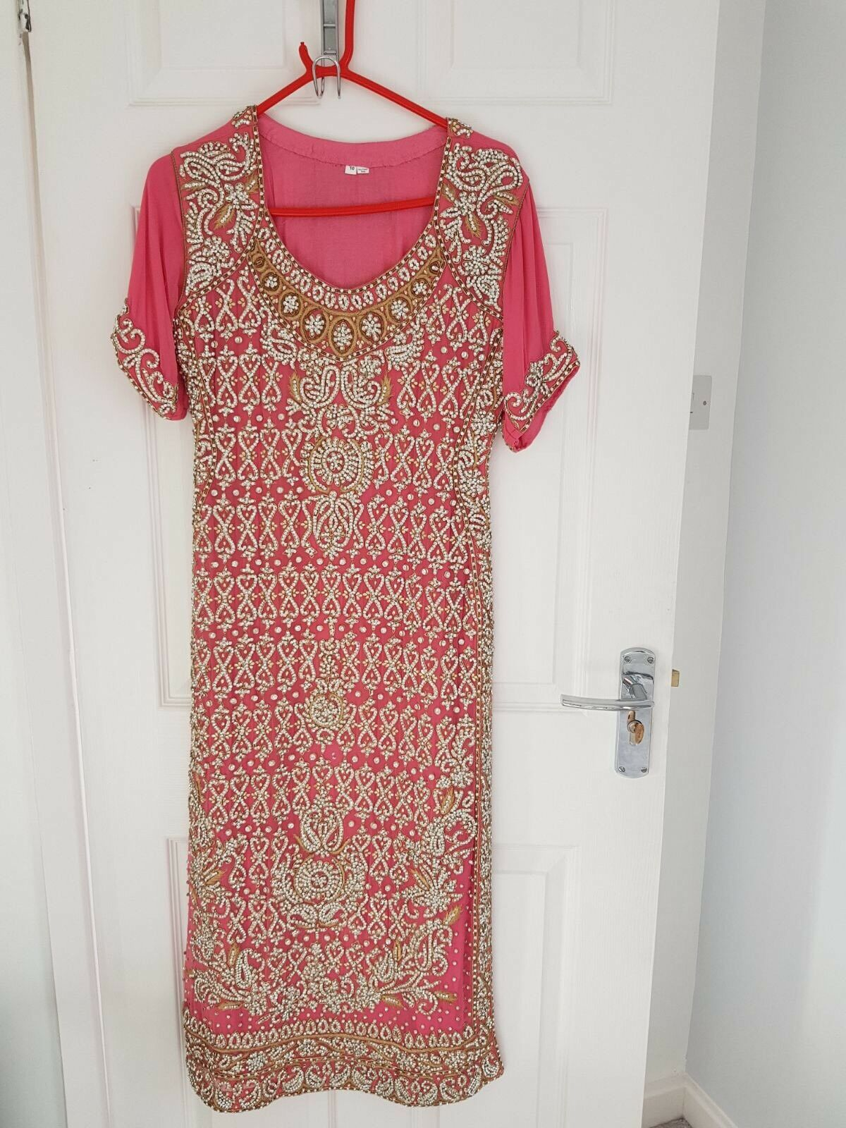 Indian Pajami Suit - Heavy Embroidery - NEW - Size 10 - Pink