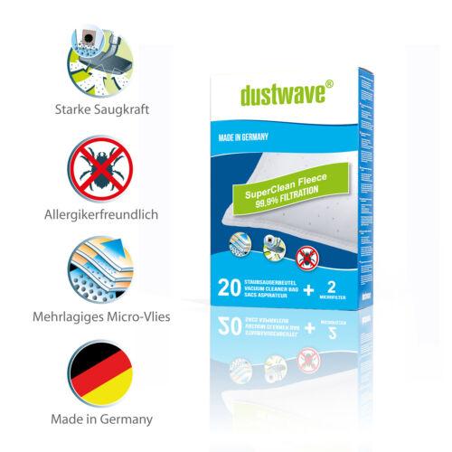 passend für Dirt Devil M 7003 Staubbeutel Microvlies Megapack + Filter