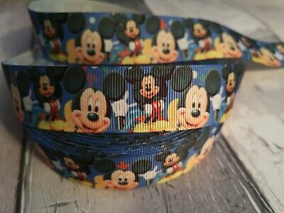 1 Meter of Minnie Mouse Character 22mm Grosgrain Ribbon for Card Making /& Bows