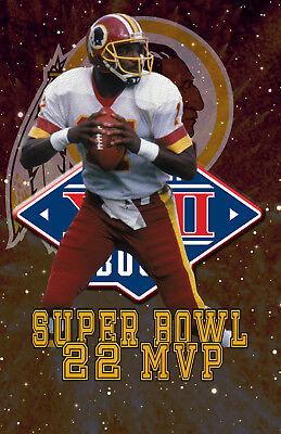 competitive price f6b5f a3697 Washington Redskins Lithograph print of Doug Williams Super ...