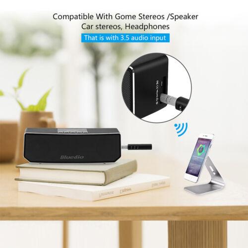 1X Mini Wireless Bluetooth Car Kit AUX Audio Receiver Hands free 3.5mm Jack NEW